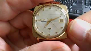 Day Date Change on a 1968 Seiko DX Automatic Men's Watch
