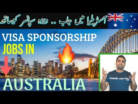 Visa Sponsored Jobs In AUSTRALIA