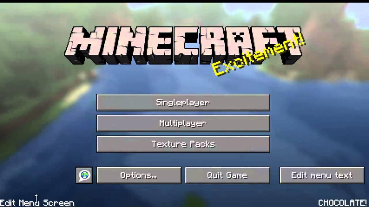 Minecraft Mod Spotlight Title Screen Tweaker