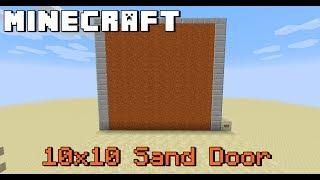 [튜토리얼] 마인크래프트 10x10 sand door (14x3x13)