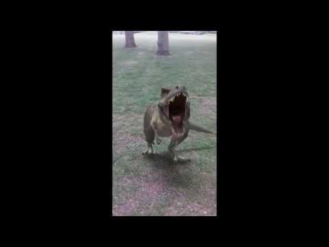 snapchat dinosaur in the park - please subscribe