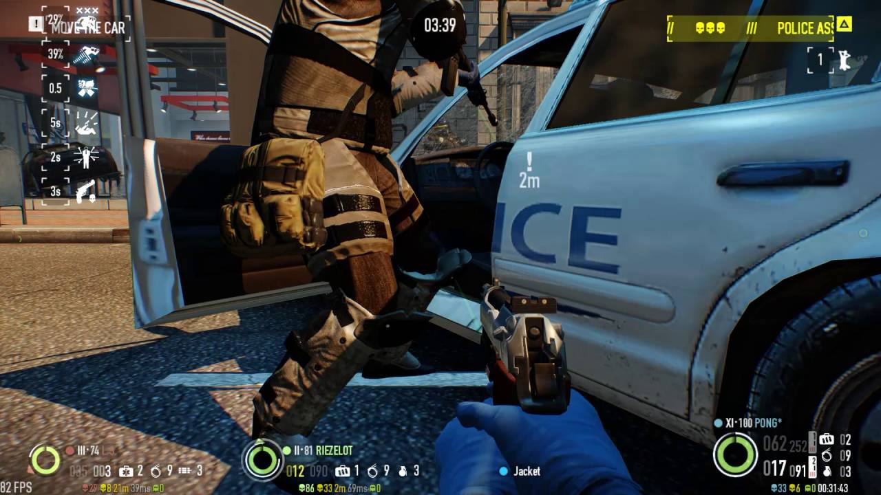 Payday 2 Hoxton Breakout Day 1 Dodge Build Youtube