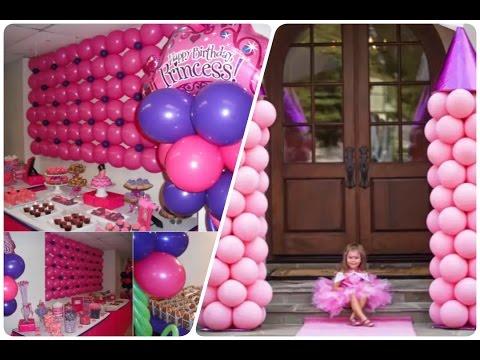 Fiesta de princesas decoracion youtube - Decoracion fiesta princesas disney ...
