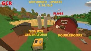Unturned - Обновление 3.14.15.0! Двойные двери, большой генератор и флаги! #65