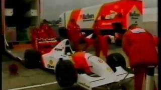 FIA 1993年 F1世界選手権第3戦の模様。オープニングラップで4台を交...
