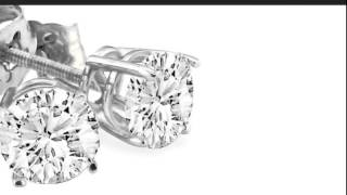 Our Finest 2ct Round Diamond Stud Earrings In Platinum. G/H, SI, close to   ideal cut. - SuperJew...