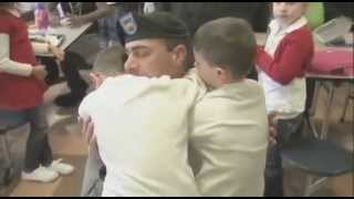 Soldier Comes Home, Surprises Sons Just in Time for Christmas