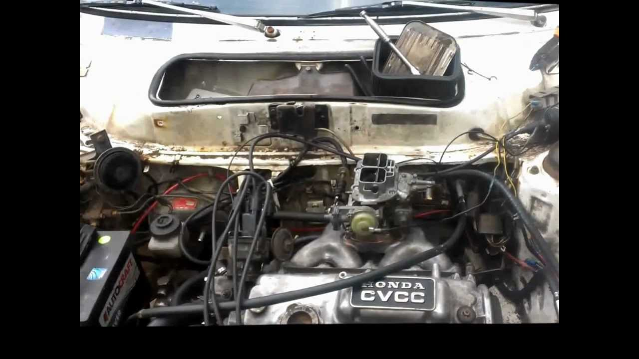 1979 Civic Motor Swap First Run Youtube