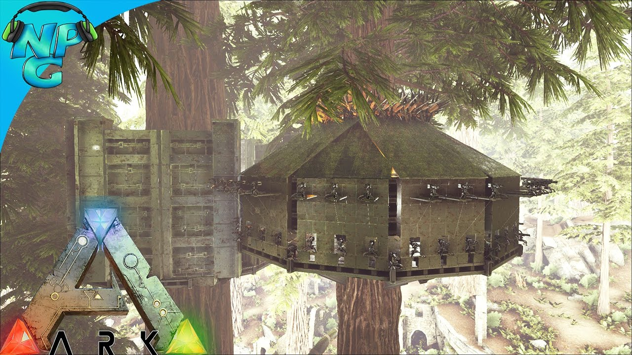 Raiding The Treehouse Platform Base Ark Survival Evolved Pvp Season 2 E14