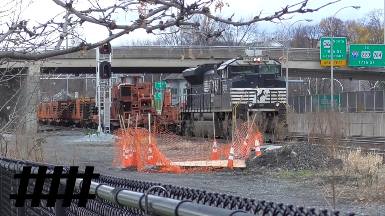 NS Continuous Welded Rail Train in Altoona, PA