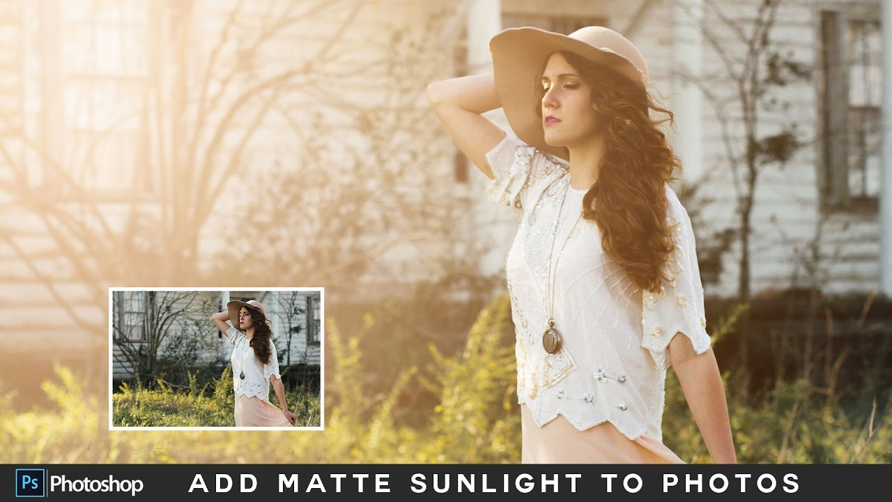 how to add natural sunlight to photos in photoshop matte light photo effect photoshop tutorial. Black Bedroom Furniture Sets. Home Design Ideas