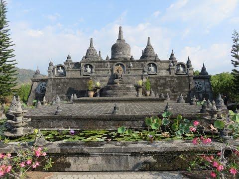Inside Brahma Vihara Arama Buddhist Monastery,  bali, indonesia