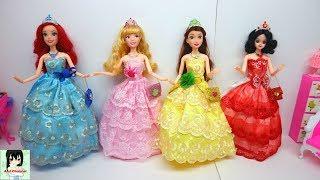 Disney Princess Doll Belle Snow White Ariel Aurora Wedding Dresses / Ami Channel