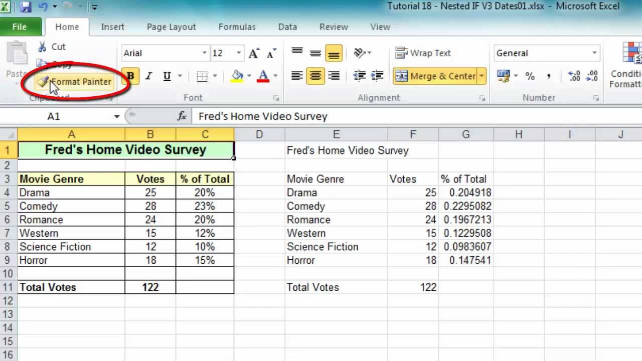 Excel Tip #006 - Format Painter for Ranges & Worksheets ...