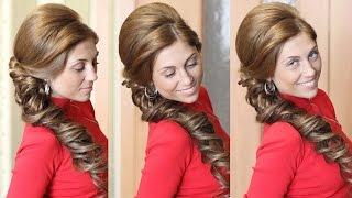 Свадебная прическа на бок - Мастер-класс(, 2014-09-27T14:00:42.000Z)