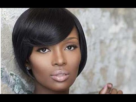 Bob Hairstyle With Side Bangs For Black Women
