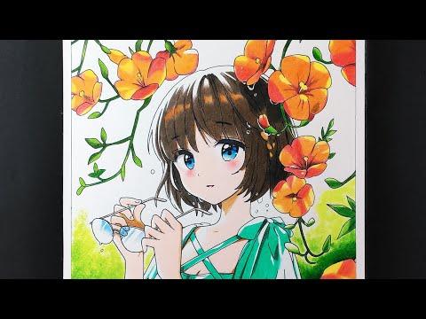 Nghệ thuật vẽ tranh Anime đẹp như in bằng bút chì màu Deli rẻ tiền - How to draw Anime.