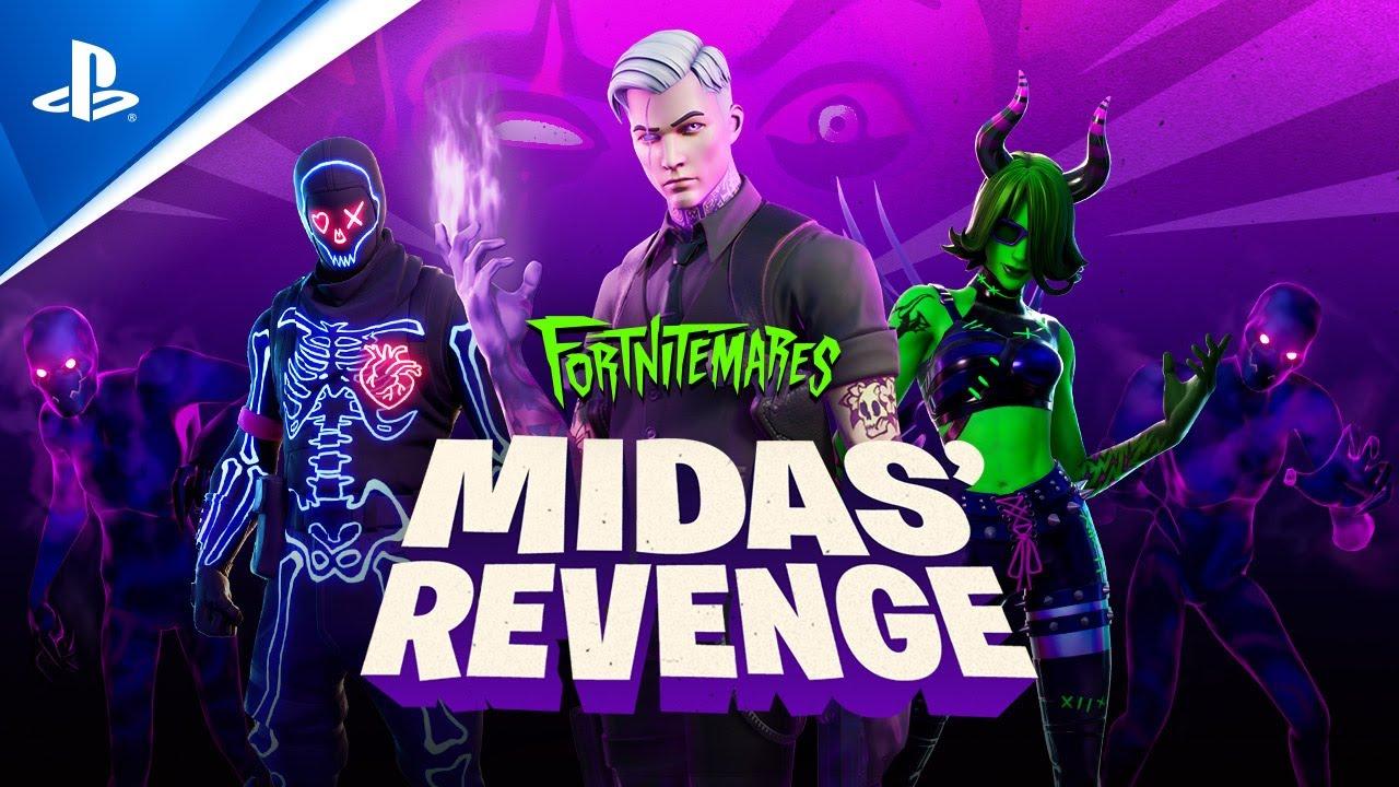 Fortnite - Fortnitemares 2020 Midas' Revenge Gameplay Trailer   PS4