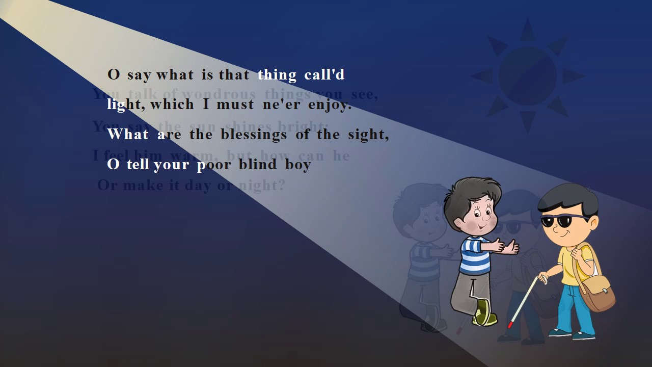 the blind boy poem download