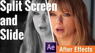 After Effects split screen and slide special effects for music video or documentary effect