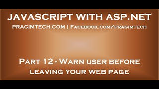 Warn user before leaving web page with unsaved changes