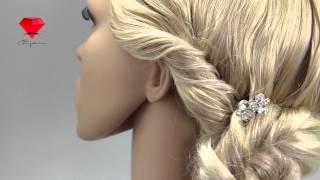 Bije.ru: Свадебная шпилька с родиевым покрытием и стразами Beke (Беке)
