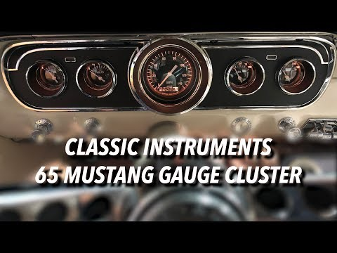 65 Mustang GT Style Gauge Upgrade Using Classic Instruments Hot Rod Series