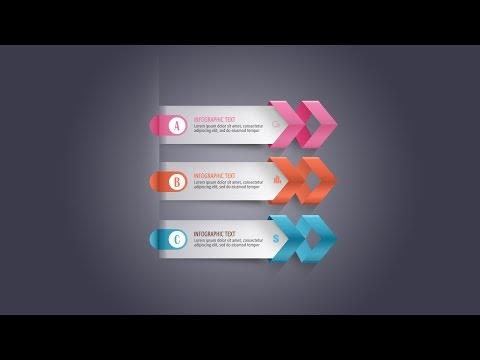 Photoshop Tutorial - Graphic Design Infographic Modern Arrow
