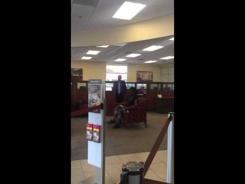 Crazy lady at Wells Fargo
