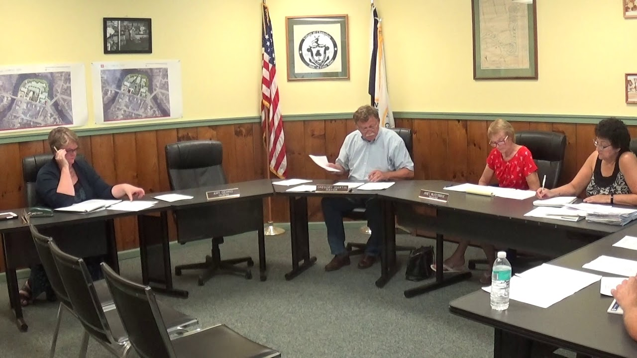 Champlain Village Board Meeting  8-13-18