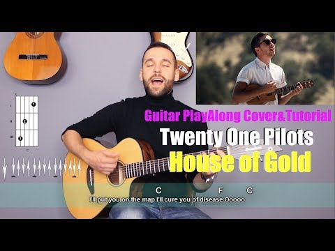 Twenty One Pilots - House of Gold Guitar Cover Tutorial (lyrics chords MusicSheet)