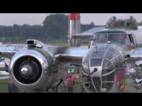 11 B-25 Mitchell Bombers Participate in Doolittle Raid 75th Anniversary Re-enactment Part 2