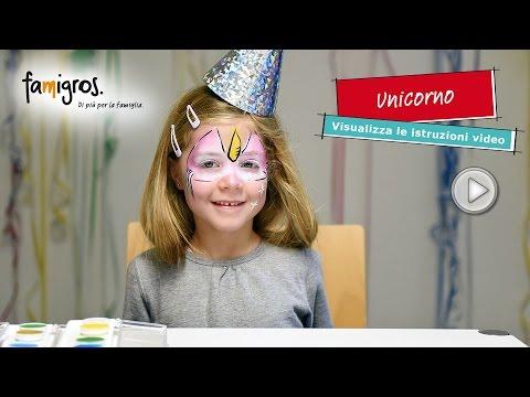 Famigros trucco per bambini, Unicorno