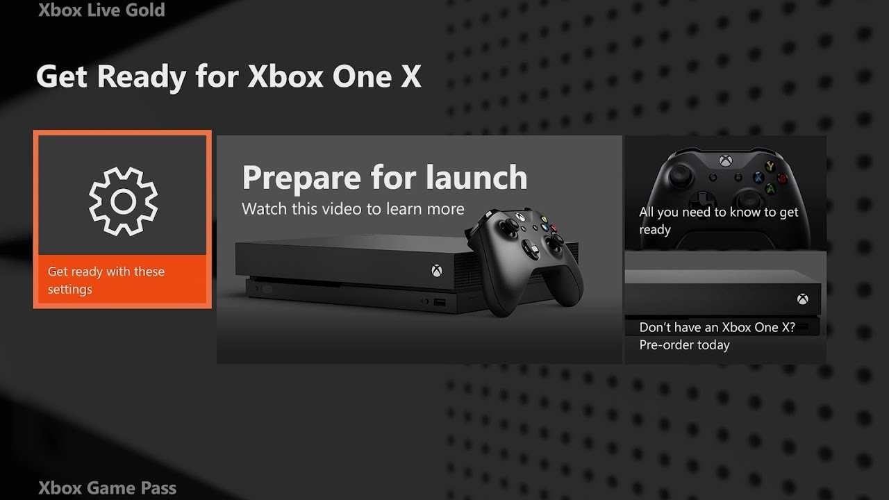 How to transfer games and system data from Xbox One to Xbox One X
