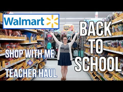 WALMART | SHOP WITH ME | TEACHER HAUL