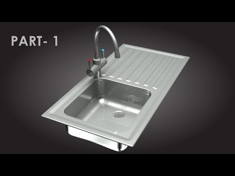 AutoCAD Kitchen Sink with Water Tap Part 1