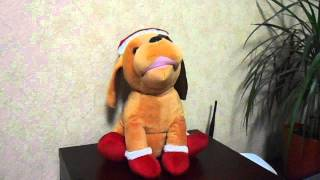 Рождественская поющая собака.