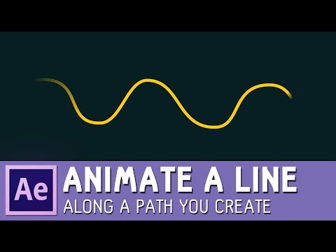 Animate a line along a path you create in After Effects ✔