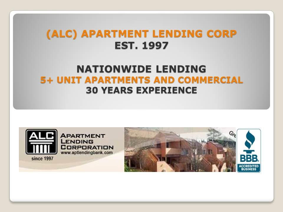 Apartment Lending Corporation | 303 771 1031 | Nationwide Apartment Lender