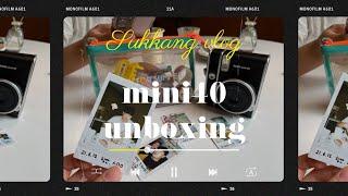 [unboxing] 내 첫 폴라로이드, 인스탁스 미니4…