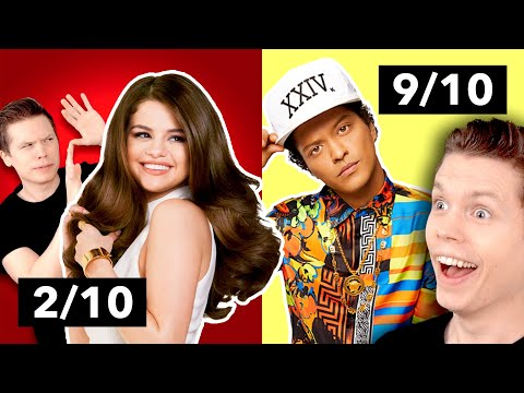 Rating Singers Without Autotune From 1 to 10 Bruno Mars Selena Gomez & MORE