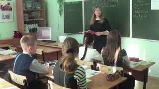 Видеофрагмент урока английского языка в коррекционном классе