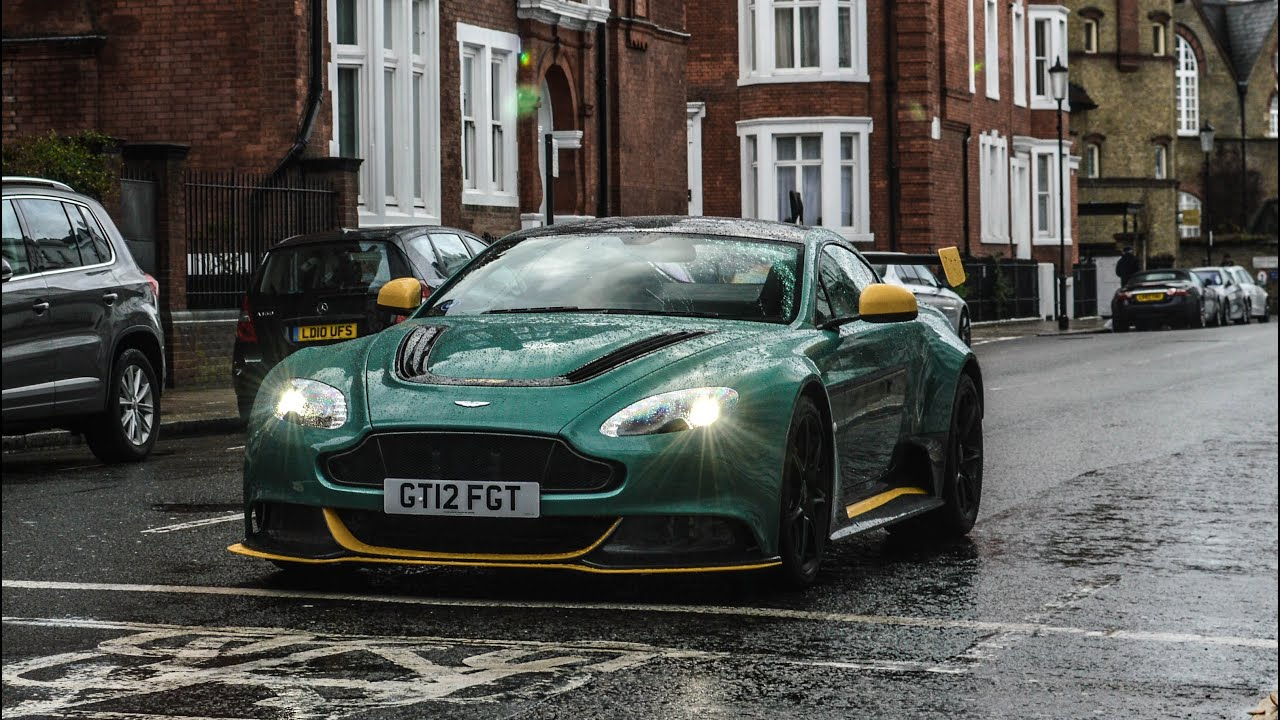 aston martin gt12 loud revs and accelerations in london! - youtube