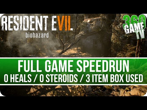 Resident Evil 7 Speedrun New Game 1:58:27 (0 Heals / 0 Steroids / 0 Stabilizers / 3 Item Box used)