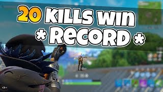 20 KILLS SOLO personal KILL RECORD fortnite