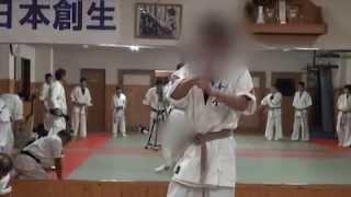 Repeat youtube video Mumonkai Karate Fukuoka 「昇段猫足組手」