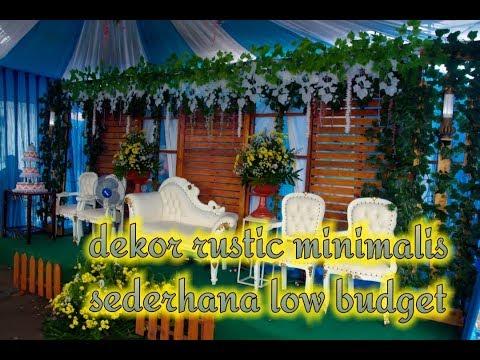 dekorasi pernikahan sederhana rustic minimalis modifikasi