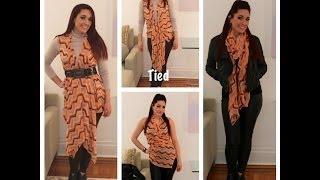 "16 Ways to wear 1 Garment!! Part 2 Multi Chic ""Tiffy"" Wrap- Fall/Winter Tutorial"