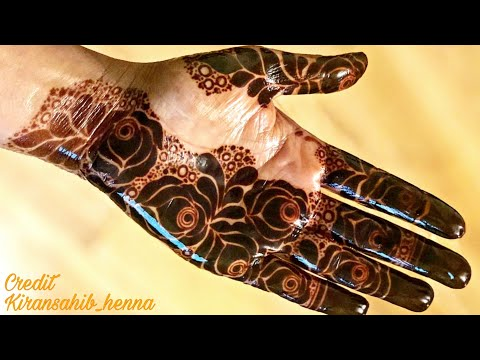 Latest Dubai Style Floral Mehendi Design For Hands Indo Arabic