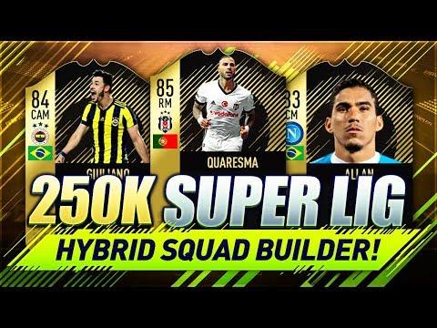 250K SUPER LIG / BRAZILIAN HYBRID FIFA 18 Squad Builder w/ Custom Tactics & Player Instructions